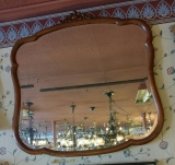 American Mahogany Beveled Mirror  Circa 1890's_1